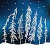 Las. Zima w tle | Stock Vector Graphics