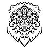 Lion Kopf. Ethnische Muster