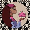 Indische Frau mit Lotus