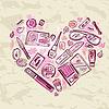 Heart of Make-up-Produkte setzen