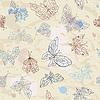 Векторный клипарт: Бабочки бесшовные фон