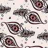 Schöne Pfauenfedern. Nahtlose Hintergrund