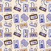 Audio-Kassette. Nahtlose Muster
