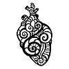 Векторный клипарт: Декоративное сердечко. Этническая картина