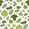 Векторный клипарт: Листья. Бесшовные фон