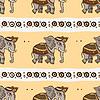 Векторный клипарт: Слоны. Этническая бесшовного фона