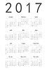 Prosty kalendarz 2017 | Stock Vector Graphics