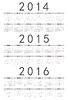 Einfache russische 2014 2015 2016-Jahr-Kalender