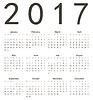 Einfache europäischen Quadrat Kalender 2017