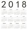 Einfache europäischen Quadrat Kalender 2018