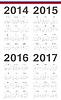 Set Einfache russische 2014 2015 2016 2017 Jahre