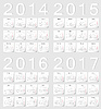 Set russische 2014 2015 2016 2017 Kalender