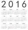 Proste rosyjski plac kalendarz 2016 | Stock Vector Graphics