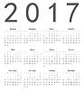 Einfache russische quadratischen Kalender 2017