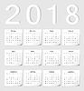 Rosyjski 2018 kalendarz | Stock Vector Graphics