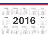 Kalendarz 2016 koło rosyjski | Stock Vector Graphics