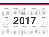 Kalendarz 2017 koło rosyjski | Stock Vector Graphics