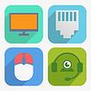 Büro-und Geschäfts Icons in Flat Design-Set