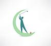 Mann spielt Golf Symbol