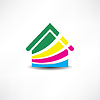 ID 4116422 | Multicolored abstraction house icon | Klipart wektorowy | KLIPARTO