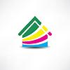 ID 4116422 | Mehrfarbige Abstraktion Haus-Symbol | Stock Vektorgrafik | CLIPARTO