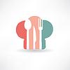 Hut Küchenchef und Küchen Set Icon-