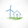 Haus und Windmühle Symbol