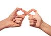 ID 4131435 | Sign infinity by two human hands | Foto stockowe wysokiej rozdzielczości | KLIPARTO