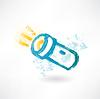 Pinsel-Symbol mit Taschenlampe