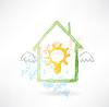 Haus-und-Lampe-Grunge-Ikone