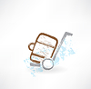 ID 4133588 | Gepäck auf Rädern Grunge-Ikone | Stock Vektorgrafik | CLIPARTO