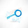 Grunge-Schlüssel-Symbol