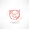 Schwein `s Kopf-Grunge-Ikone