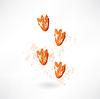 Ente `s Fußabdruck Grunge-Ikone