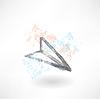 Papierflieger-Grunge-Ikone