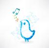 Vogelgesang Grunge-Ikone