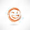 zwinkern und lachen Grunge-Ikone