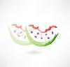 Wassermelone gebissen Grunge-Ikone