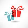 Zwei farbige Geschenke