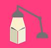 Lesung mit Lampe in rosa Hintergrund