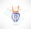 Schreibstift-Grunge-Ikone