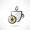 Zitronen-Tee-Grunge-Ikone
