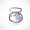Jar Ink Grunge Symbol
