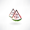Wassermelone Grunge-Ikone