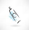 Zahnpastatube Grunge-Ikone