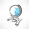 Globus Grunge-Ikone