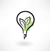 Öko Glühbirne Grunge-Ikone