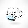 Bücher Grunge-Ikone