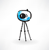 Fotokamera Grunge Symbol