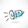 Taschenlampe Grunge-Ikone